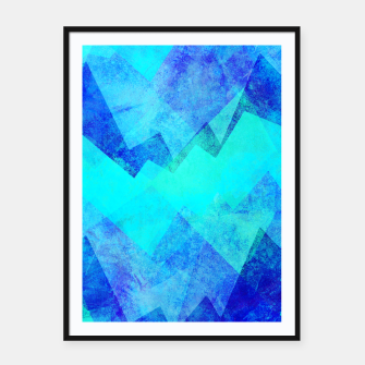 Thumbnail image of Abstract blue Framed poster, Live Heroes