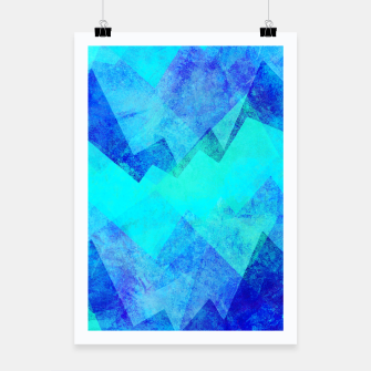 Thumbnail image of Abstract blue Poster, Live Heroes