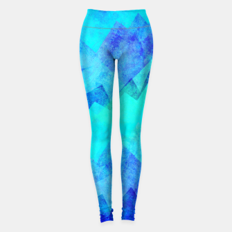 Thumbnail image of Abstract blue Leggings, Live Heroes