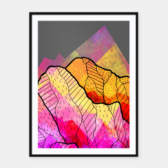 Thumbnail image of Funky Peaks Framed poster, Live Heroes