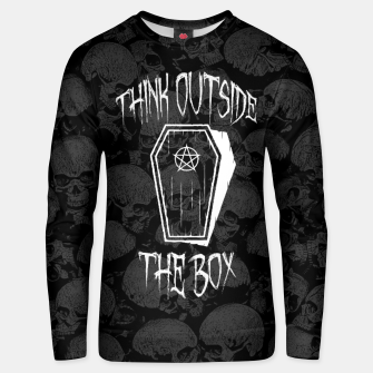 Thumbnail image of Think Outside The Box Goth Coffin Humour Unisex sweater, Live Heroes