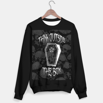 Thumbnail image of Think Outside The Box Goth Coffin Humour Sweater regular, Live Heroes