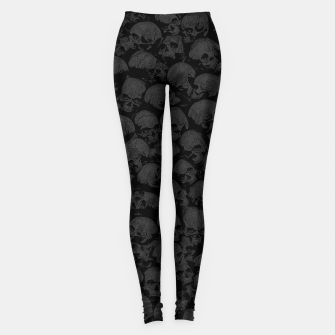 Thumbnail image of Think Outside The Box Goth Coffin Humour Leggings, Live Heroes
