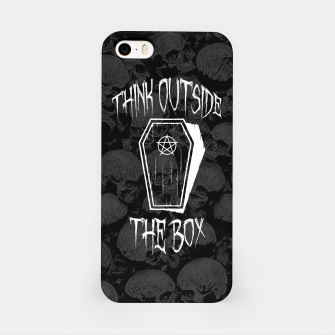 Thumbnail image of Think Outside The Box Goth Coffin Humour iPhone Case, Live Heroes
