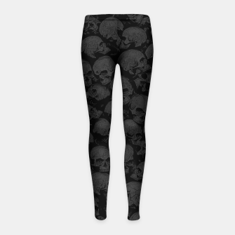 Thumbnail image of Think Outside The Box Goth Coffin Humour Girl's leggings, Live Heroes
