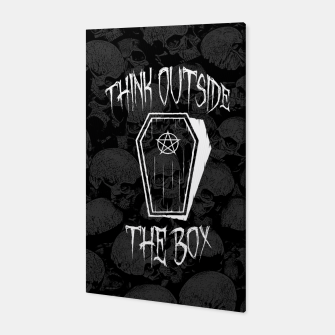 Thumbnail image of Think Outside The Box Goth Coffin Humour Canvas, Live Heroes