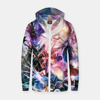 Thumbnail image of Synaptic Womb Zip up hoodie, Live Heroes
