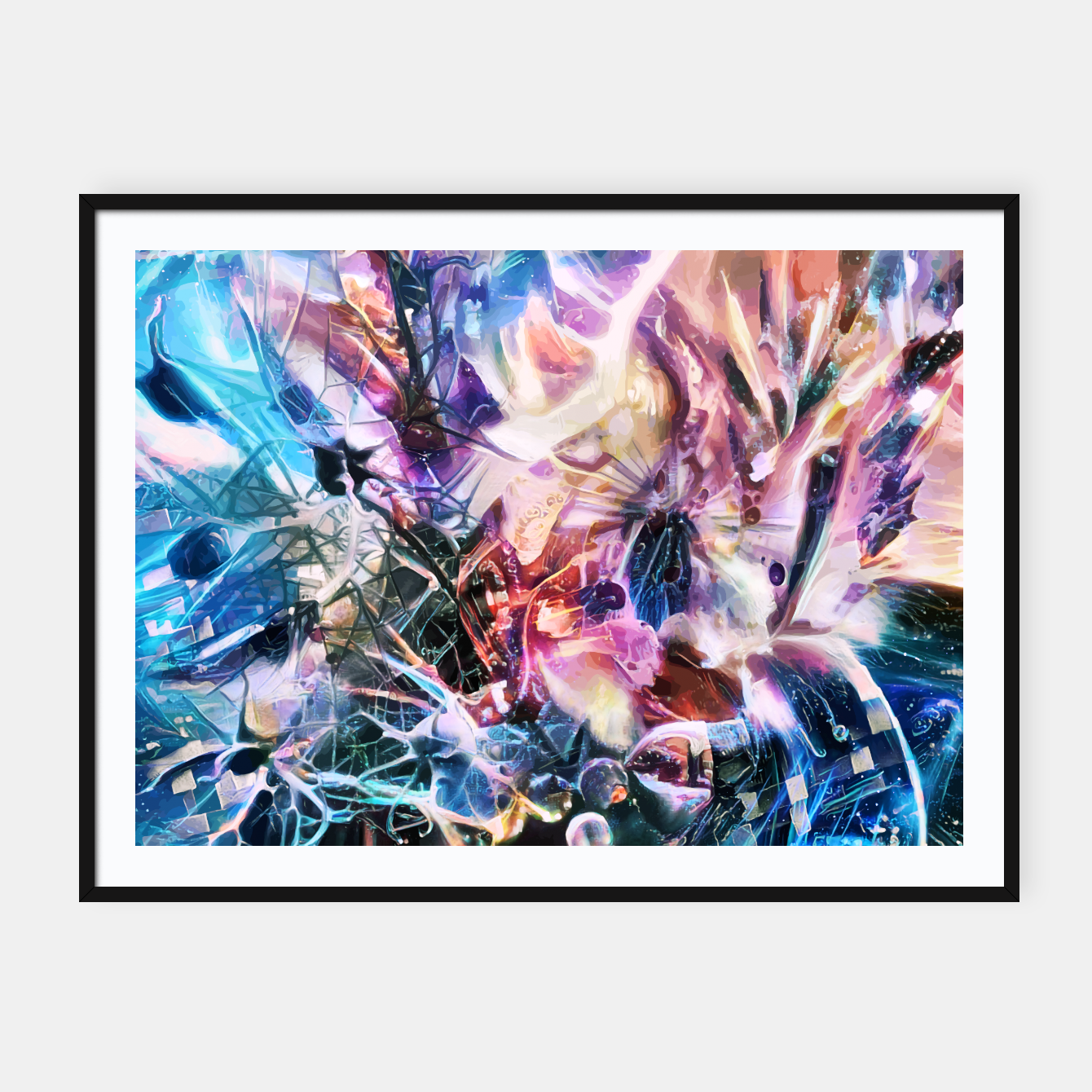 Image of Synaptic Womb Framed poster - Live Heroes