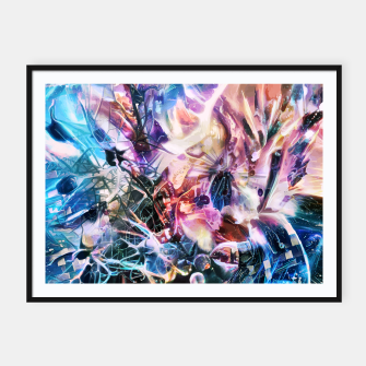 Thumbnail image of Synaptic Womb Framed poster, Live Heroes