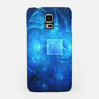 Thumbnail image of Blue Square Universe Abstract Fractal Art Design Samsung Case, Live Heroes
