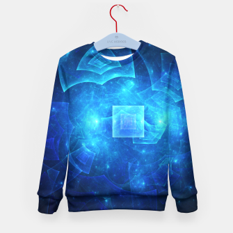 Miniaturka Blue Square Universe Abstract Fractal Art Design Kid's sweater, Live Heroes