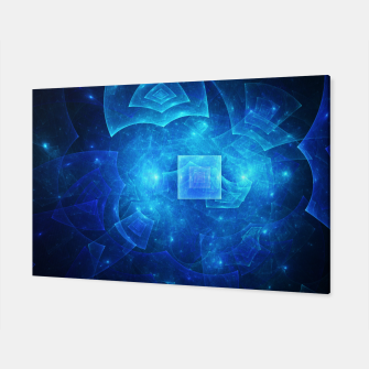 Thumbnail image of Blue Square Universe Abstract Fractal Art Design Canvas, Live Heroes