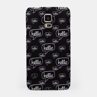 Thumbnail image of Hello Text Banner Motif Pattern Samsung Case, Live Heroes