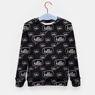 Miniaturka Hello Text Banner Motif Pattern Kid's sweater, Live Heroes