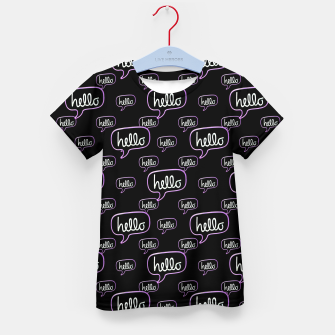 Thumbnail image of Hello Text Banner Motif Pattern Kid's t-shirt, Live Heroes