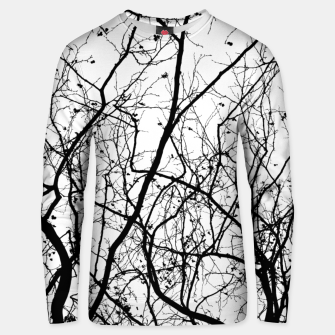 Miniaturka Branches in black and white Unisex sweater, Live Heroes