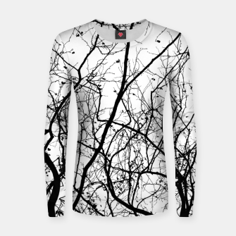 Miniaturka Branches in black and white Women sweater, Live Heroes