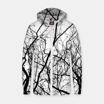Miniaturka Branches in black and white Zip up hoodie, Live Heroes