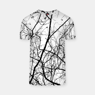 Miniature de image de Branches in black and white T-shirt, Live Heroes