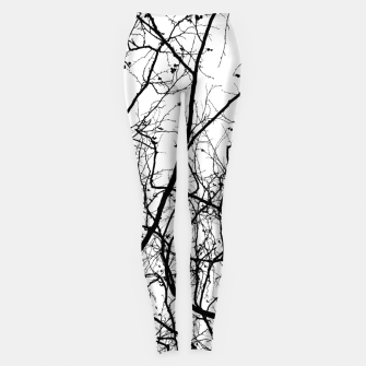 Miniaturka Branches in black and white Leggings, Live Heroes