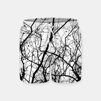 Miniaturka Branches in black and white Swim Shorts, Live Heroes