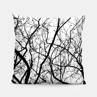 Miniature de image de Branches in black and white Pillow, Live Heroes