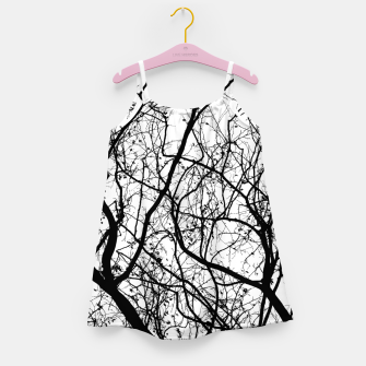 Miniaturka Branches in black and white Girl's dress, Live Heroes