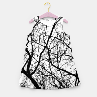 Miniature de image de Branches in black and white Girl's summer dress, Live Heroes