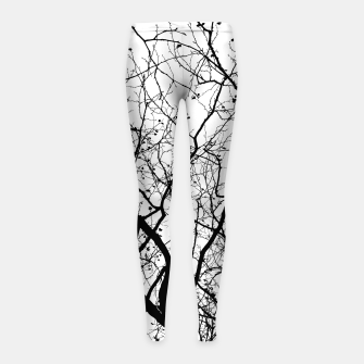 Miniaturka Branches in black and white Girl's leggings, Live Heroes