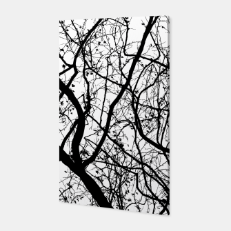 Miniaturka Branches in black and white Canvas, Live Heroes