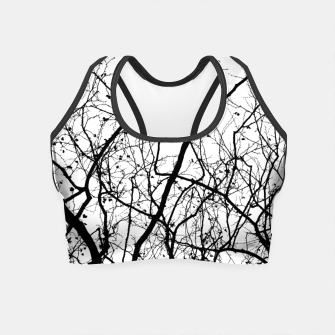 Miniature de image de Branches in black and white Crop Top, Live Heroes