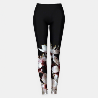 Thumbnail image of spring blossoms on black Leggings, Live Heroes