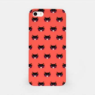 Miniatur Cats on Red – iPhone Case, Live Heroes