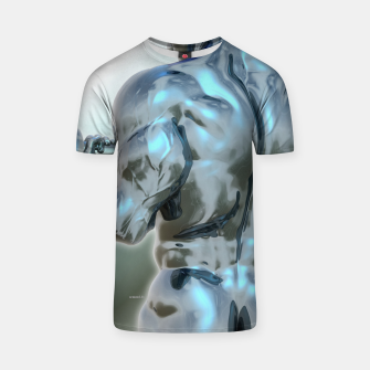 Thumbnail image of Male Chrome Bodybuilder T-Shirt, Live Heroes