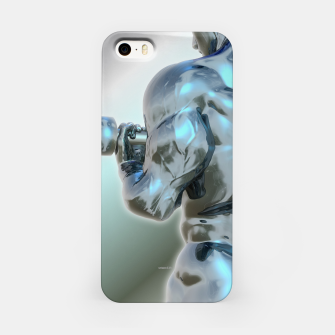 Thumbnail image of Male Chrome Bodybuilder iPhone-Hülle, Live Heroes