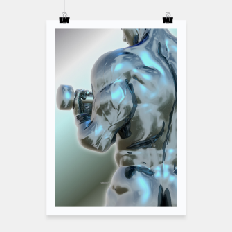 Thumbnail image of Male Chrome Bodybuilder Plakat, Live Heroes