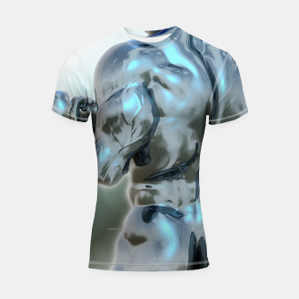 Thumbnail image of Male Chrome Bodybuilder Shortsleeve rashguard, Live Heroes