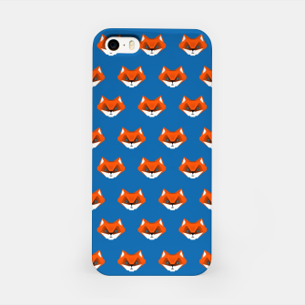 Miniatur Foxes on Blue – iPhone Case, Live Heroes