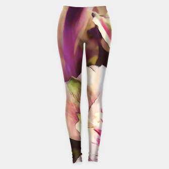 Thumbnail image of Pink and White Flowers Leggings, Live Heroes