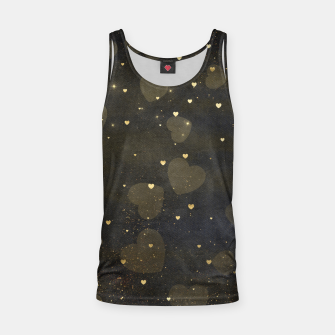 Thumbnail image of Black & Gold Texture Tank Top, Live Heroes