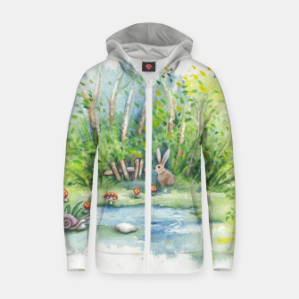 Thumbnail image of Mushrooms, Bunny, Frog and Snail Zip up hoodie, Live Heroes
