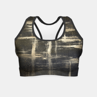 Miniature de image de Black & Gold Texture Crop Top, Live Heroes