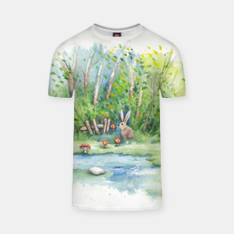 Thumbnail image of Mushrooms, Bunny, Frog and Snail T-shirt, Live Heroes