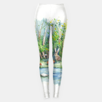 Thumbnail image of Mushrooms, Bunny, Frog and Snail Leggings, Live Heroes