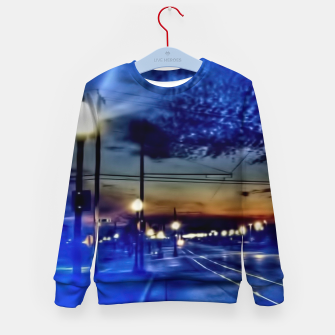 Miniaturka Bus Stop Sunrise Kid's sweater, Live Heroes