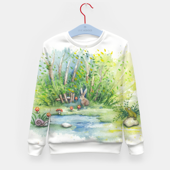 Thumbnail image of Mushrooms, Bunny, Frog and Snail Kid's sweater, Live Heroes
