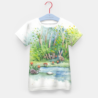 Thumbnail image of Mushrooms, Bunny, Frog and Snail Kid's t-shirt, Live Heroes