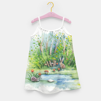 Thumbnail image of Mushrooms, Bunny, Frog and Snail Girl's dress, Live Heroes