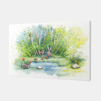 Thumbnail image of Mushrooms, Bunny, Frog and Snail Canvas, Live Heroes