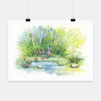 Thumbnail image of Mushrooms, Bunny, Frog and Snail Poster, Live Heroes